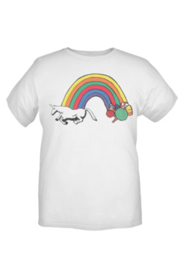 Charlie The Unicorn Candy Rainbow T-Shirt